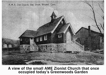 AME Zionist Church located at the now Greenwoods Garden location