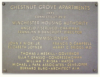 Chestnut Grove Founded 1971 Plaque