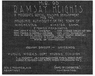 Ramsay Heights Plaque